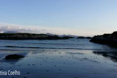 Ring og Kerry - White Strand, Final da tarde, vista sobre várias ilhas