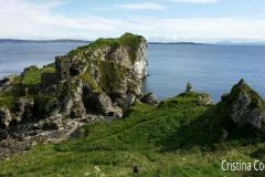 Península de Kinbane e castelo