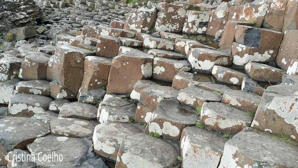 Pormenor das formações rochosas da calçada dos Gigantes
