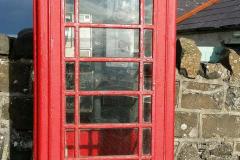 Telefone á moda antiga tipico do Reino Unido