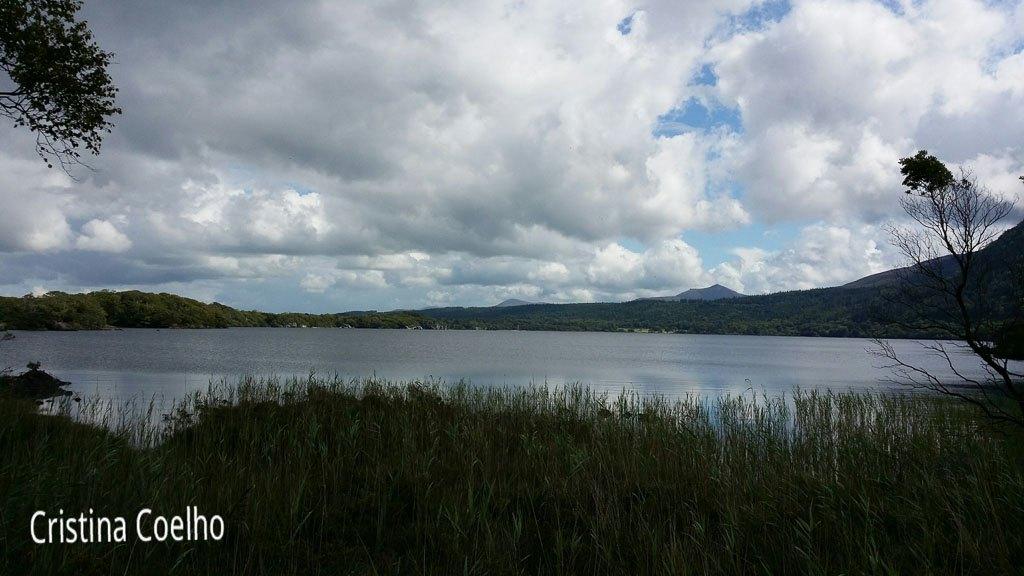 Á volta do Middle Lake - já a meio do lago com cerca de 7 Km andados