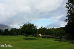 Arco-iris sobre o parque