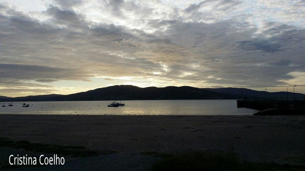 Nascer do Sol em Rathmullan.  Primeira noite na Irlanda