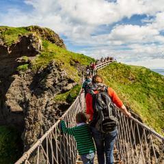 Carrick-a-rede ponte de corda