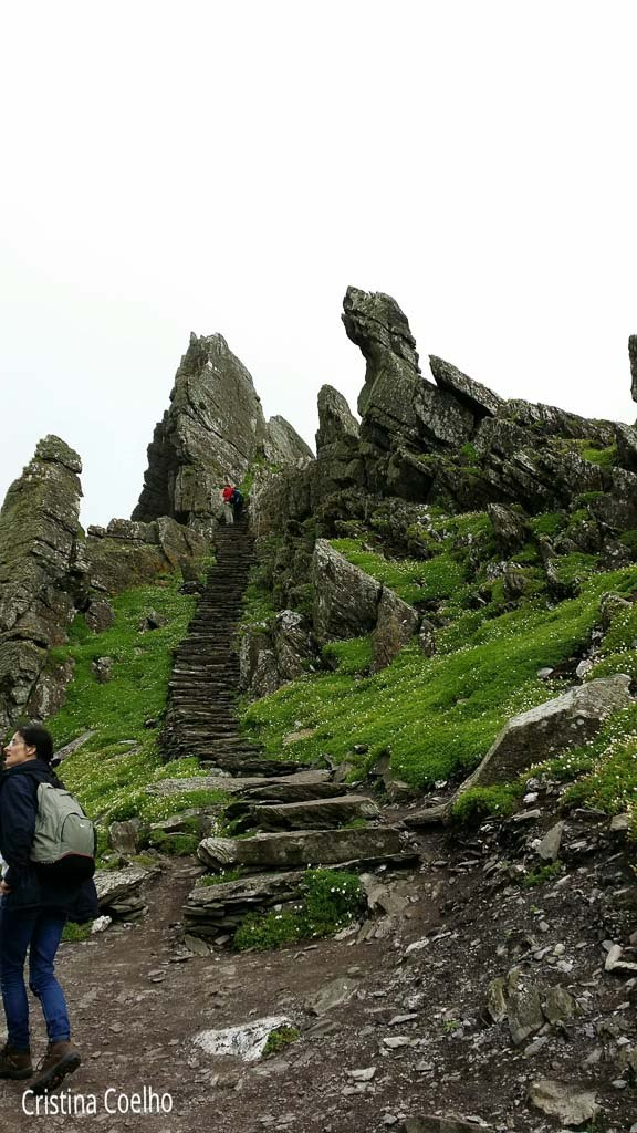 Going up to the monastery - Skellig Michael