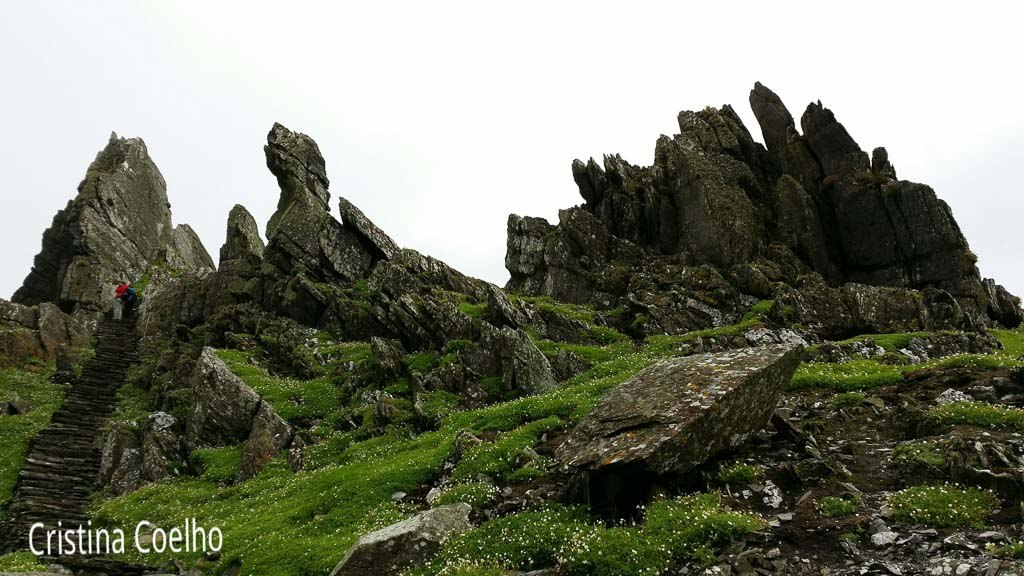 Cliffs that protect the monastery from the winds and the eyes of passersby. - Skellig Michael