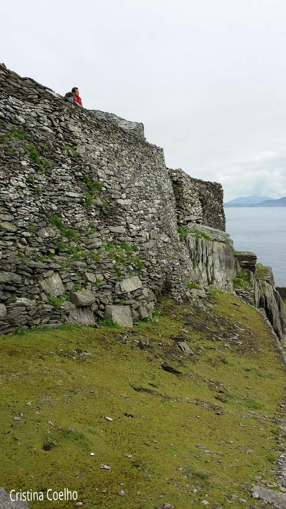 Walls that surround the monastery - Skellig Michael