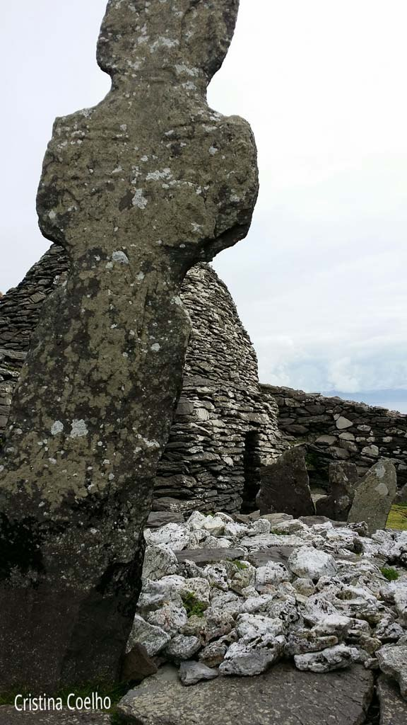 Cross of one of the cemetery graves - Skellig Michael