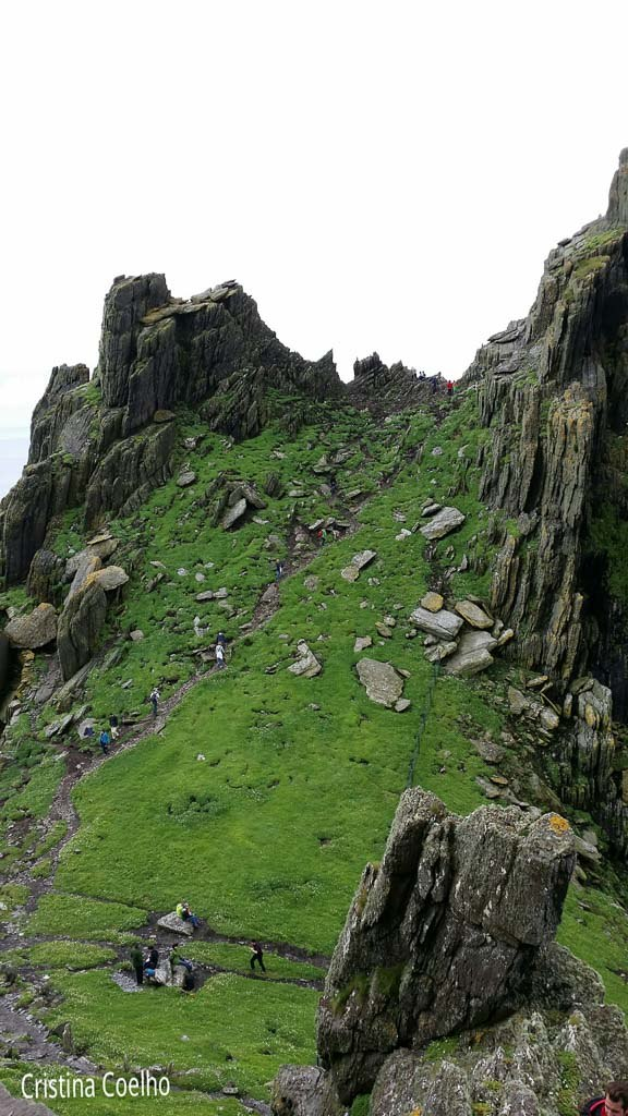 The other side of the monastery site. - Skellig Michael