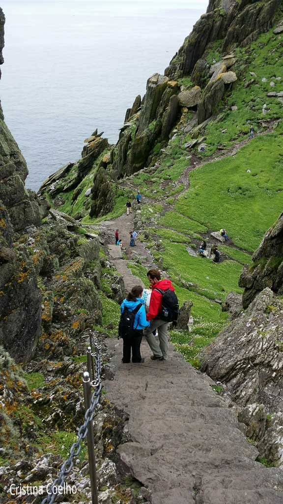 On the way down ... it is about 600 steps - Skellig Michael