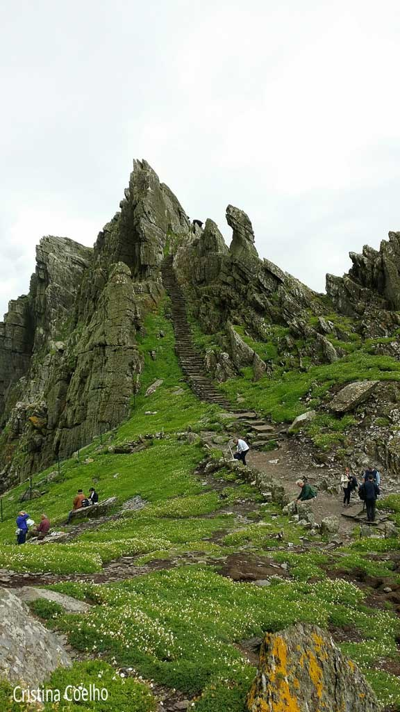 Another view of the climb - Skellig Michael