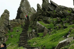 Subindo para o mosteiro - Skellig Michael